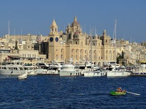 Birgu from across the water