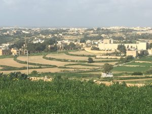 Countryside above Marsaxlokk Bay