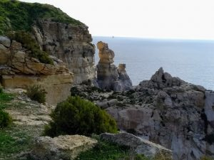 coastal rocks, South Malta ,l-Mara (the woman)