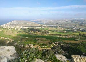 The view frojm the start of walk 8 near Bahrija