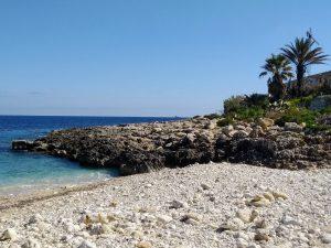 Small pebble beach